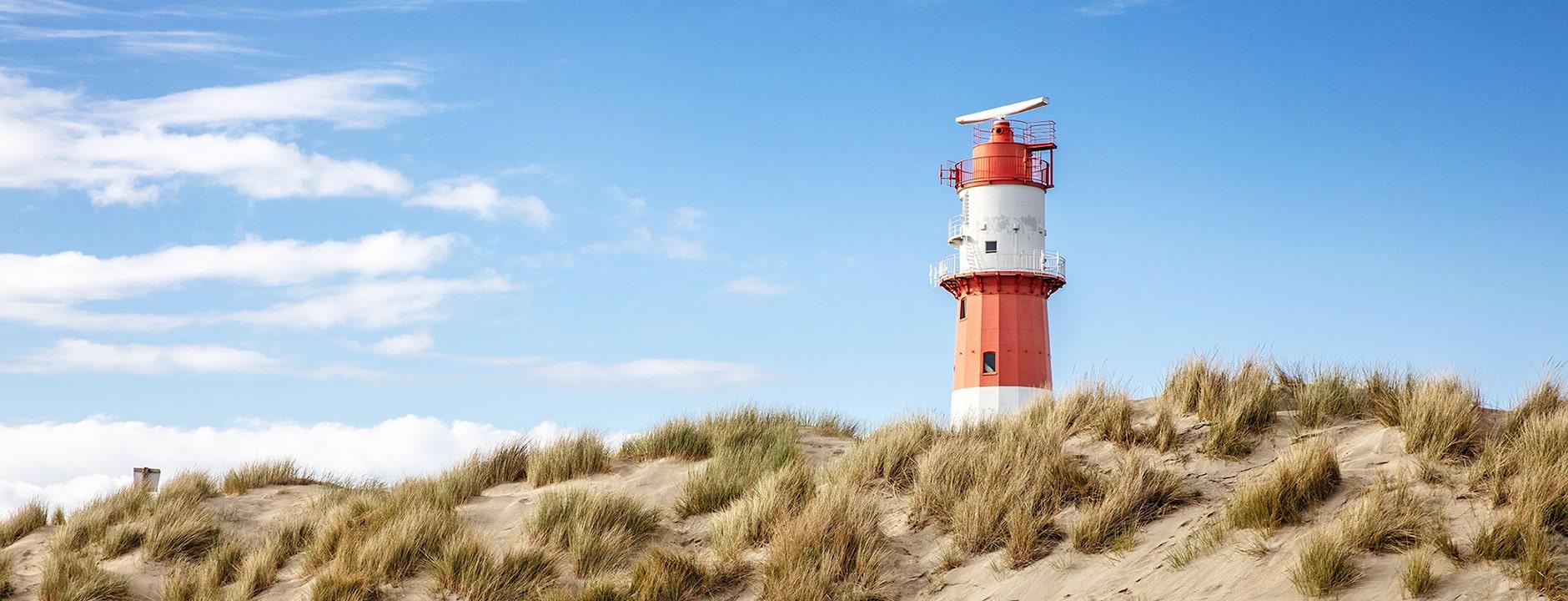 Strandnahe Lage direkt am Südstrand von Borkum